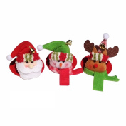3 Pcs Christmas Decorations For Home Christmas Party Household Round Coasters Santa Claus Snowman Elk Cup Mat