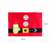 1PCS Christmas Stockings Placemats Knife And Fork Mat Christmas Decorations For Home