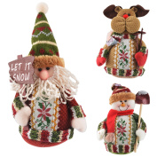 3 Pcs Christmas Dolls Christmas Decoration For Home New Year Xmas Gift For Kids Christmas Party Supplies