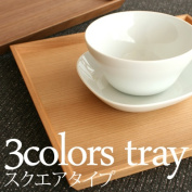 "Wooden tray tray, tray ""3colors tray square type"" designs / North European style"