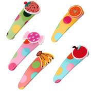 Qingsun 5 Pcs Boutique All-Match Duckbill Clip Fruit Candy Lovely Baby Girls Hair Clip Ponytail Holder Hair Clip Bun Children Beautiful Women Hair Accessories