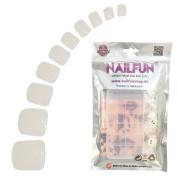 NAILFUN 100 Full Cover Toe Nails in Storage Box - Natural White