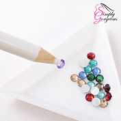 2 X Rhinestone Gem Crystal Wax Pencil Picker For Nail Art