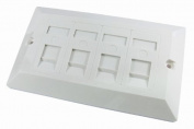 4 Port Double Socket RJ45 Network Cat 5e FacePlate Ethernet Wall Plate
