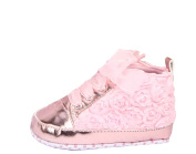 YL Baby Girl Lace Rose Soft Sole Sneaker 3-12 Months