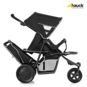 Hauck Freerider 3 Wheel Tandem Pushchair - Black.