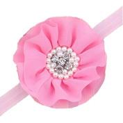 Viskey Lovely Cotton Girls Baby Headbands,Round,pink