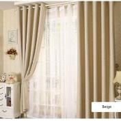 Blackout Curtains, ZZM Stars Pattern Kids Room Blackout Curtain Thermal Insulated Curtain for Bedroom 100cm x 250cm