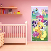 "Walplus 200x86 cm Wall Stickers ""Hasbro My Little Pony"" Door Removable Mural Art Decals Vinyl Home Decoration DIY Living Bedroom Office Décor Wallpaper Kids Room Gift, Multi-colour"