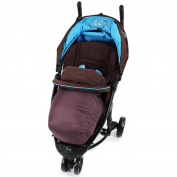 Deluxe Universal Footmuff to fit Petite Star Zia 3 Wheeler - Hot Chocolate