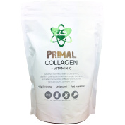 Primal Collagen + Vitamin C by LLS | Hydrolysed Bovine Collagen plus Vitamin C for Enhanced Collagen Production | Paleo/Primal Friendly | Gluten/Dairy Free | 456g / 30 Servings | Unflavoured | UK Made