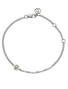 October Opal Silver Birthstone Bracelet | Molly Brown
