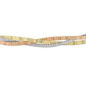 Carissima Gold 9 ct 3 Colour Gold 3 Plait Herringbone Necklace