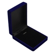 Vintage Velvet Plastic Royal Blue Jewellery Box Gift for Ring Bracelet Necklace