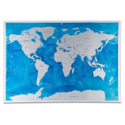 Deluxe Scratch Edition World Map Travel Oceans DIY Kids Wall Stickers 57.5x81.5cm