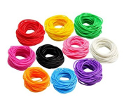 TOOKY 25pces Mixed Gummy Silicone Wristbands Bracelets Bands Rubber Gummies Bangles Wristbands
