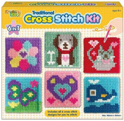Kreative Kids Set Of 6 Cross Stitch Boards For Children Tapestry Sewing Craft Set