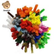 Bastelbär Pipe Cleaners – set of 200 pieces for craft, 20 different colours, includes glitter colours
