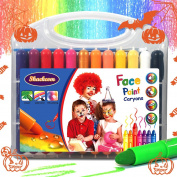 Face Paint Crayons for Kids - 24 Colours - Safe & Non-Toxic body painting Sticks kit - Easy to Apply & Wash Off - Great for Birthday Parties, Fundraising Events & Halloween Christmas New Years Gift