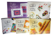 House of Crafts DIY Collection Kit - Marbling Craft + Card Making + Quilling + Glass Paint + Beeswax