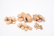 Wooden Pulleys 60mm Pack of 10