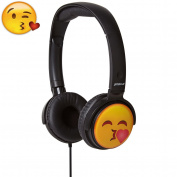 Headphones for Kids / Children Stereo Over Ear Kids Headphones 4 Children Emoji Earmoji Groov-e for iPad, iPhone, iPod, iTouch, Smartphones and Tablets for Samsung Kissing)