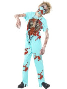 Smiffy's Children's Zombie Surgeon Costume, Trousers, Printed Top, Mask & Stethoscope, Size