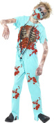 Smiffy's Children's Zombie Surgeon Costume, Bloodied Trousers, Top, Mask & Stethoscope, Size