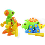 Take Apart Toys, D & & R Dinosaur Assembly Toys Take-apart with Drill DIY Educational Animal Puzzle Building Play Sets Toys Gift for Kids Children