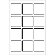 Set of 2 Coin Trays- 15 spaces 50x50mm