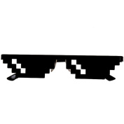 Dragon868 Hot!!! 2017 New Thug Life Glasses 8 Bit Pixel Deal With IT Sunglasses Unisex Cool Sunglasses Toy Party Decoration
