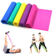 1.5 Metres Latex Fitness Resistance Bands Elastic Stretch Bands Exercise Training Band Best for Pilates Yoga , Home Gym Crossfit WorkOut or Physical Therapy