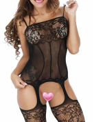 Buauty Sheer Bodystocking Plus Size Fishnet Bodystocking Crotchless For Women