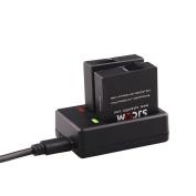 SJCAM 2 Batteries and a double charger suitable for SJCAM SJ6 LEGEND Sports Camera / SJ6 LEGEND Action Camera Accessories
