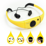 Tayogo Waterproof MP3 Player Headphones with Swimming Earbuds,Tayogo 2017 Upgraded 8GB UnderWater Music Player Headset for Swimming, Surfing,Running,Diving and Sports Yellow