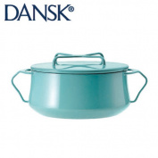 DANSK Dansk convent style enamelled pot saucepot with two 18 cm 1.9l teal 833297