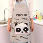 Apron Women Waterproof Cartoon Kitchen Cooking Bib Aprons Panda