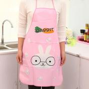 Apron Women Waterproof Cartoon Kitchen Cooking Bib Aprons Rabbit