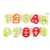 Number Letters Biscuit Cutter Number Fondant Cake Cookie Cutter Press Embosser Cake Mold Birthday Cake Decoration Tools