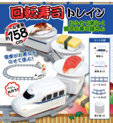 With six pieces of sushi bar saucers turning around carrying belt-conveyor sushi train sushi train toy sushi