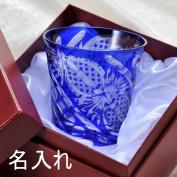 Glass gift-kiriko cut octagonal Kagome Cup