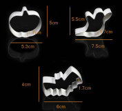 3pcs/set Halloween Series Pumpkin Ghost Bat Shape Metal Cookies Cutter Aluminum Alloy Bakeware Tools