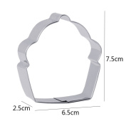 Cupcake Shape Cookie Molds Stainless Steel Cake Fondant Molds Cookie Cutter Mousse Ring