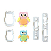 4PCS Owl Cookie Cutter Plastic Biscuit Mold Fondant Cookie Mould DIY Cake Decorating Tools Baking Cake Decor