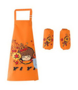 Painting Aprons Cute Waterproof Artist Smocks For Kids . - 5, Lollipop Orange