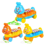 GZQ Piano Toy Caterpillar Trailer Knock Xylophone Music Instrument Children Kids Educational Toys