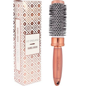 Lily England Round Barrel Brush - Radial Ceramic Hair Brush for Blow Drying - Rose Gold