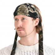 Casualbox Tie-Dye Headband Bandana Boho Hippie Retro Flower psychedelic 60's