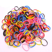 Pack of 250 Small Mini Hair Braiding Elastics Polyurethane Bands for Dreads Braids by Clest F & H