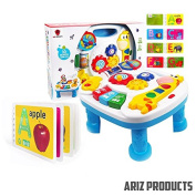 MUSICAL LEARNING TABLE For Babies - FREE Alphabet Book, Finest Musical Learning Table With Songs-Greetings-Colours & Animal Sound Recognition. BEST Entertaining Desk Develops Motor Skills & Encourage Exploration In Children. . BUY NOW